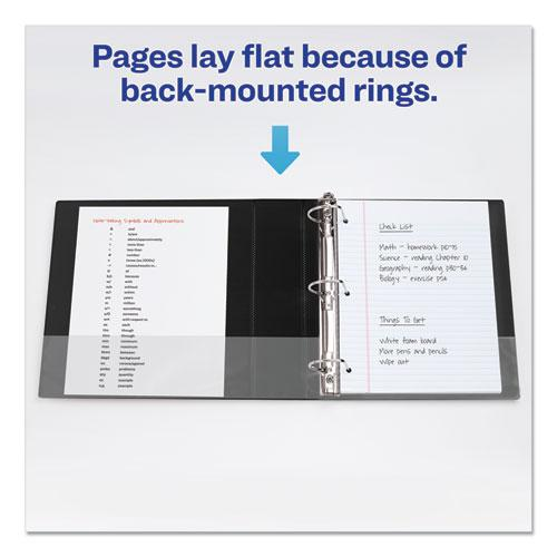 """Durable Non-View Binder with DuraHinge and EZD Rings, 3 Rings, 3"""" Capacity, 11 x 8.5, Black, (8702). Picture 3"""