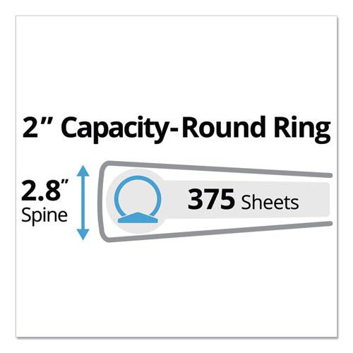 "Mini Size Durable Non-View Binder with Round Rings, 3 Rings, 2"" Capacity, 8.5 x 5.5, Black. Picture 5"