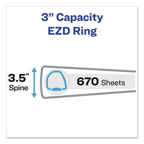 """Durable Non-View Binder with DuraHinge and EZD Rings, 3 Rings, 3"""" Capacity, 11 x 8.5, Black, (7701). Picture 2"""