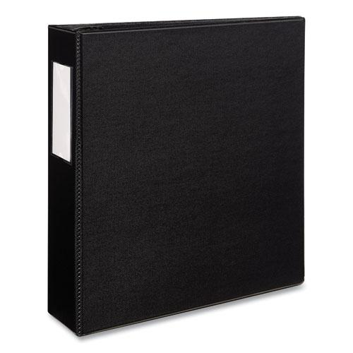 """Durable Non-View Binder with DuraHinge and EZD Rings, 3 Rings, 3"""" Capacity, 11 x 8.5, Black, (8702). Picture 1"""