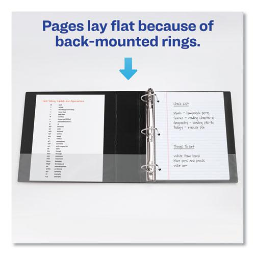 """Durable Non-View Binder with DuraHinge and Slant Rings, 3 Rings, 2"""" Capacity, 11 x 8.5, Blue. Picture 5"""