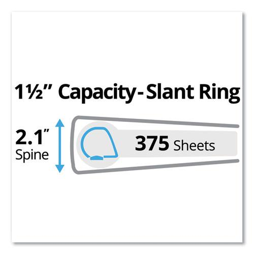 """Durable Non-View Binder with DuraHinge and Slant Rings, 3 Rings, 1.5"""" Capacity, 11 x 8.5, Black. Picture 7"""