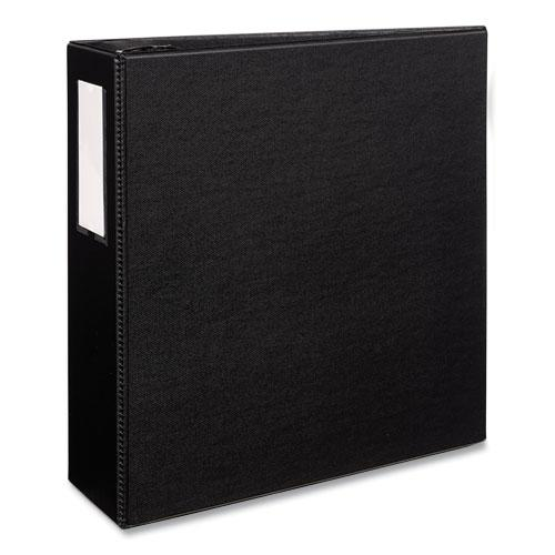 """Durable Non-View Binder with DuraHinge and EZD Rings, 3 Rings, 4"""" Capacity, 11 x 8.5, Black, (8802). Picture 1"""