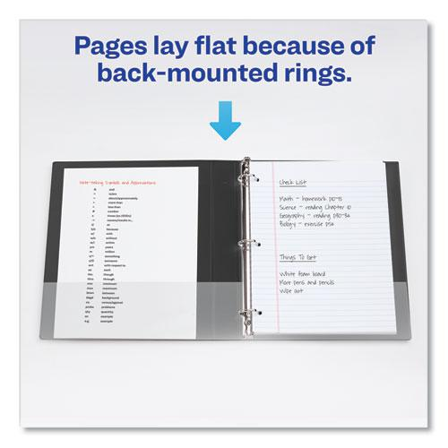 """Durable Non-View Binder with DuraHinge and EZD Rings, 3 Rings, 1"""" Capacity, 11 x 8.5, Black, (7301). Picture 7"""