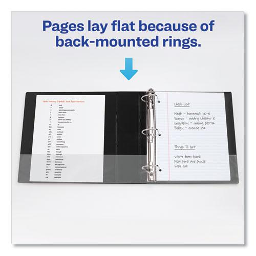 """Durable Non-View Binder with DuraHinge and Slant Rings, 3 Rings, 2"""" Capacity, 11 x 8.5, Green. Picture 5"""