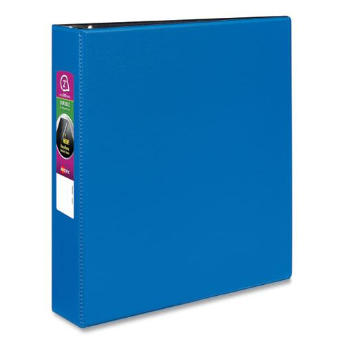 """Durable Non-View Binder with DuraHinge and Slant Rings, 3 Rings, 2"""" Capacity, 11 x 8.5, Blue. Picture 1"""