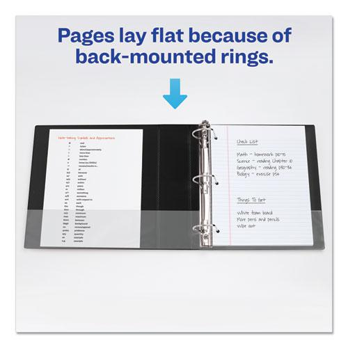 """Durable Non-View Binder with DuraHinge and Slant Rings, 3 Rings, 3"""" Capacity, 11 x 8.5, Black. Picture 6"""