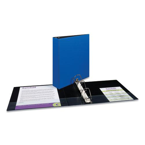 """Durable Non-View Binder with DuraHinge and Slant Rings, 3 Rings, 2"""" Capacity, 11 x 8.5, Blue. Picture 3"""