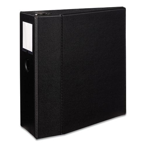 "Durable Non-View Binder with DuraHinge and EZD Rings, 3 Rings, 5"" Capacity, 11 x 8.5, Black, (8901). Picture 1"
