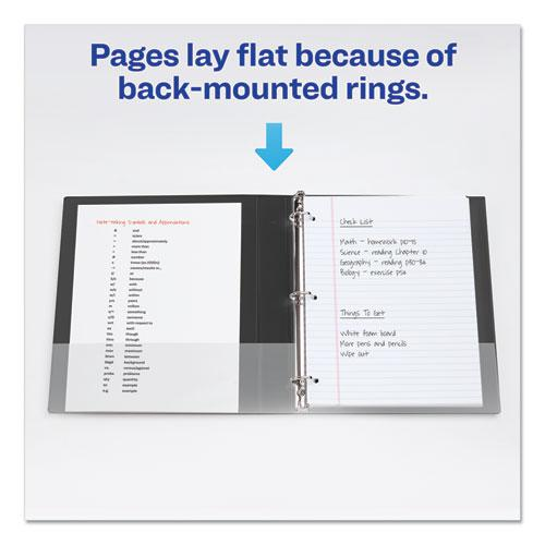 """Durable Non-View Binder with DuraHinge and EZD Rings, 3 Rings, 4"""" Capacity, 11 x 8.5, Black, (7801). Picture 4"""