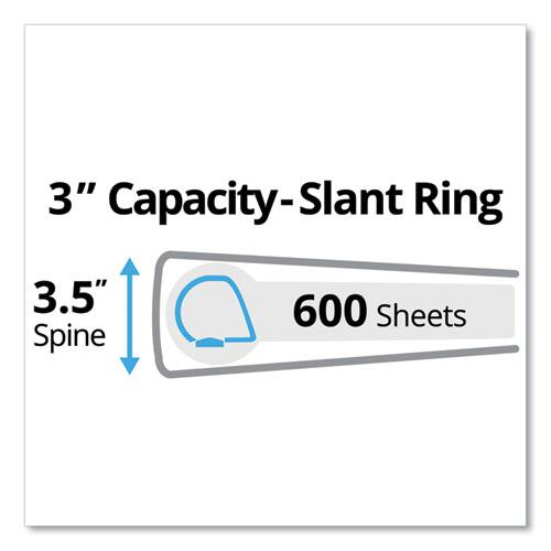 """Durable Non-View Binder with DuraHinge and Slant Rings, 3 Rings, 3"""" Capacity, 11 x 8.5, Black. Picture 7"""