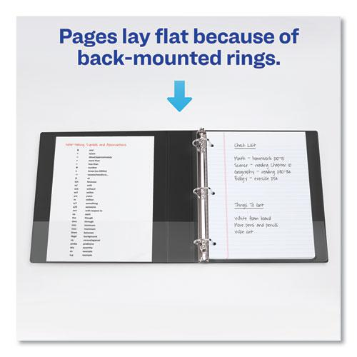 """Durable Non-View Binder with DuraHinge and Slant Rings, 3 Rings, 1.5"""" Capacity, 11 x 8.5, Black. Picture 6"""