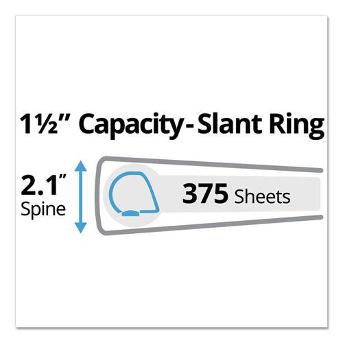 """Durable Non-View Binder with DuraHinge and Slant Rings, 3 Rings, 1.5"""" Capacity, 11 x 8.5, Green. Picture 6"""