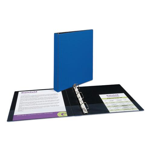 """Durable Non-View Binder with DuraHinge and Slant Rings, 3 Rings, 1"""" Capacity, 11 x 8.5, Blue. Picture 5"""