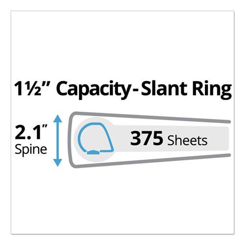 """Durable Non-View Binder with DuraHinge and Slant Rings, 3 Rings, 1.5"""" Capacity, 11 x 8.5, Red. Picture 5"""