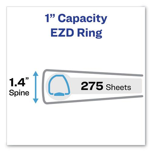 """Durable Non-View Binder with DuraHinge and EZD Rings, 3 Rings, 1"""" Capacity, 11 x 8.5, Black, (7301). Picture 2"""