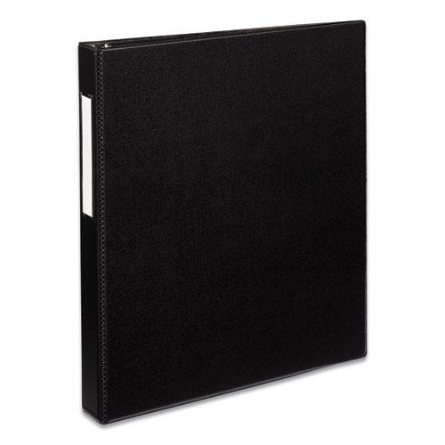 """Durable Non-View Binder with DuraHinge and EZD Rings, 3 Rings, 1"""" Capacity, 11 x 8.5, Black, (8302). Picture 1"""