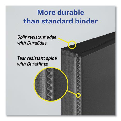 """Durable Non-View Binder with DuraHinge and Slant Rings, 3 Rings, 1"""" Capacity, 11 x 8.5, Black. Picture 2"""