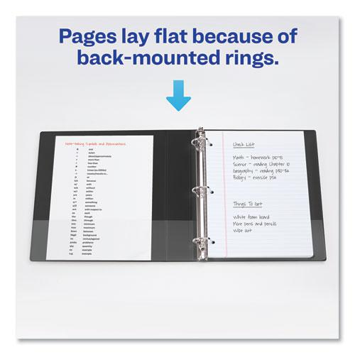 """Durable Non-View Binder with DuraHinge and Slant Rings, 3 Rings, 1.5"""" Capacity, 11 x 8.5, Green. Picture 5"""