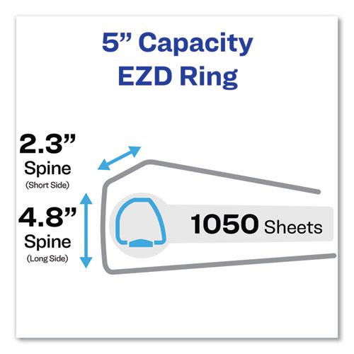 "Durable Non-View Binder with DuraHinge and EZD Rings, 3 Rings, 5"" Capacity, 11 x 8.5, Black, (8901). Picture 2"