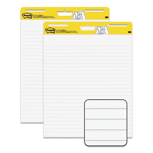 """Self-Stick Easel Pads, Ruled 1 1/2"""", 25 x 30, White, 30 Sheets, 2/Carton. Picture 1"""