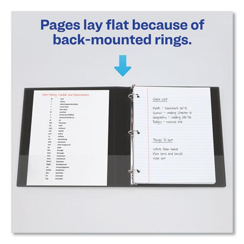 """Showcase Economy View Binder with Round Rings, 3 Rings, 0.5"""" Capacity, 11 x 8.5, Black. Picture 4"""
