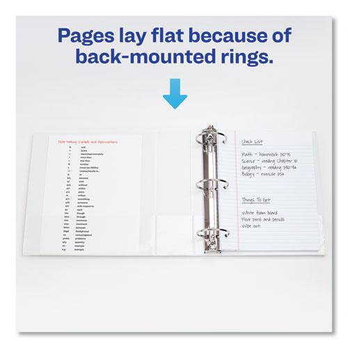 """Showcase Economy View Binder with Round Rings, 3 Rings, 3"""" Capacity, 11 x 8.5, White. Picture 2"""