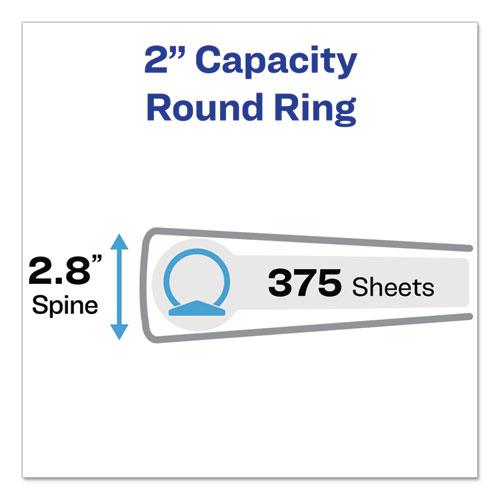 """Showcase Economy View Binder with Round Rings, 3 Rings, 2"""" Capacity, 11 x 8.5, White. Picture 4"""