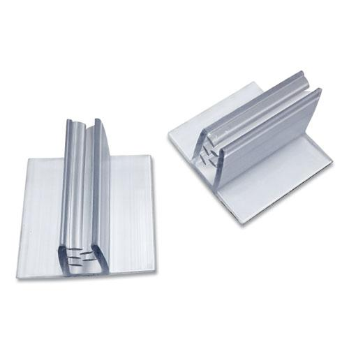 Personal Space Desk Divider Feet, 1 x 1 x 0.63, Clear, 48/Pack. Picture 1