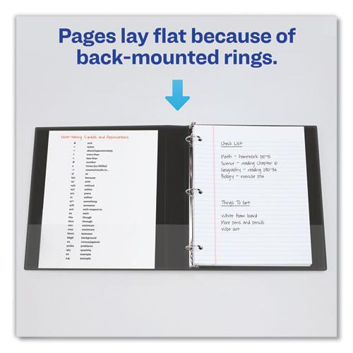 """Economy Non-View Binder with Round Rings, 3 Rings, 3"""" Capacity, 11 x 8.5, Black, (4601). Picture 4"""