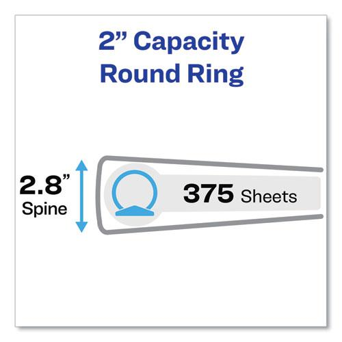 """Economy View Binder with Round Rings , 3 Rings, 2"""" Capacity, 11 x 8.5, White, (5731). Picture 5"""