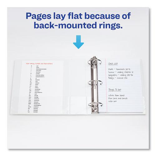 """Economy View Binder with Round Rings , 3 Rings, 1"""" Capacity, 11 x 8.5, White, (5711). Picture 2"""