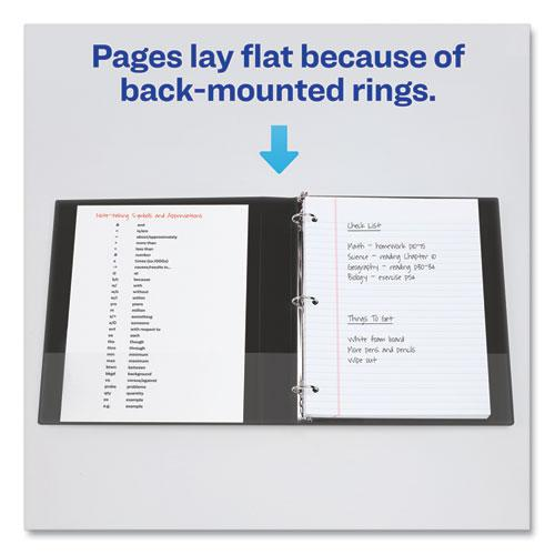 "Economy Non-View Binder with Round Rings, 3 Rings, 1.5"" Capacity, 11 x 8.5, Black, (4401). Picture 3"