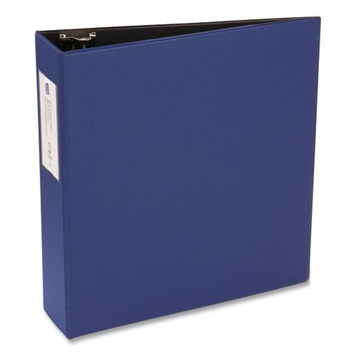 """Economy Non-View Binder with Round Rings, 3 Rings, 3"""" Capacity, 11 x 8.5, Blue, (4600). Picture 3"""