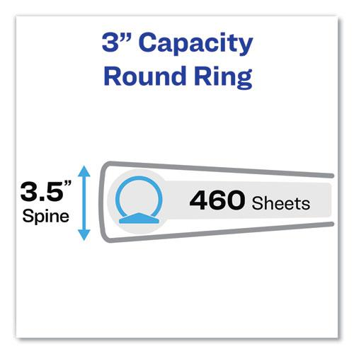 """Economy Non-View Binder with Round Rings, 3 Rings, 3"""" Capacity, 11 x 8.5, Blue, (4600). Picture 5"""
