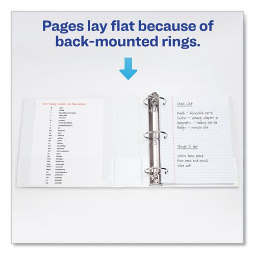 """Economy View Binder with Round Rings , 3 Rings, 0.5"""" Capacity, 11 x 8.5, White, (5706). Picture 3"""