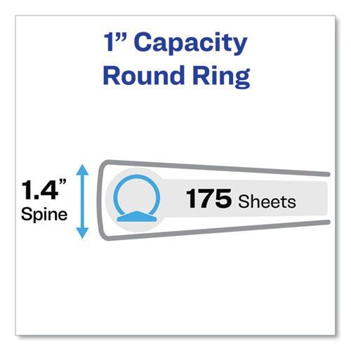 """Economy View Binder with Round Rings , 3 Rings, 1"""" Capacity, 11 x 8.5, Black, (5710). Picture 6"""