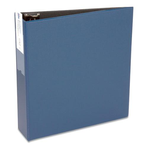 """Economy Non-View Binder with Round Rings, 3 Rings, 3"""" Capacity, 11 x 8.5, Blue, (4600). Picture 1"""
