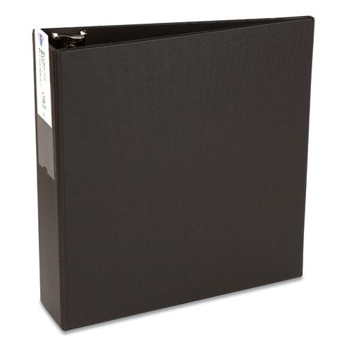 """Economy Non-View Binder with Round Rings, 3 Rings, 3"""" Capacity, 11 x 8.5, Black, (4601). Picture 1"""