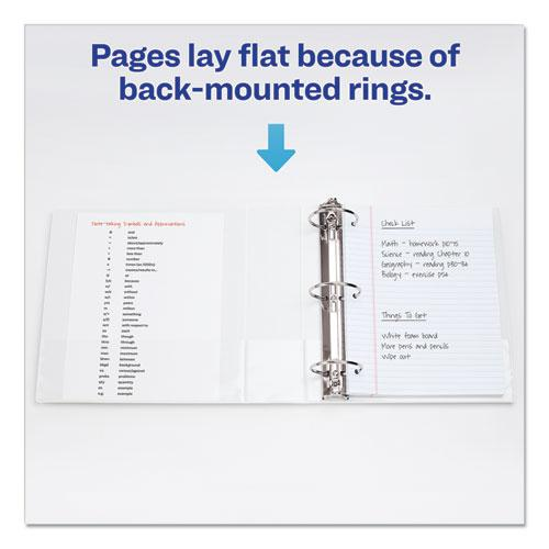 """Economy View Binder with Round Rings , 3 Rings, 1.5"""" Capacity, 11 x 8.5, White, (5726). Picture 5"""