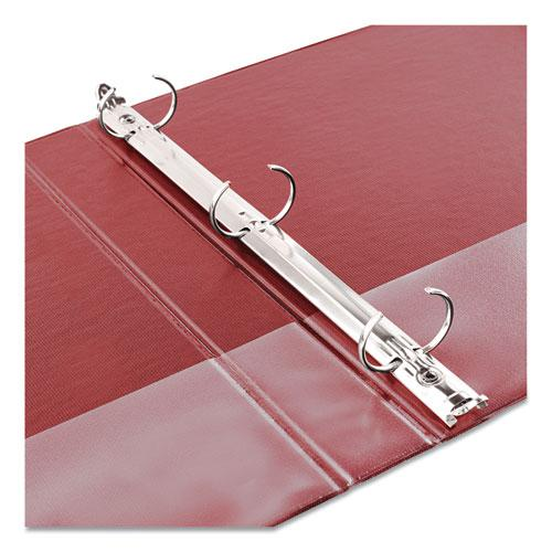 "Economy Non-View Binder with Round Rings, 3 Rings, 2"" Capacity, 11 x 8.5, Red, (3510). Picture 3"