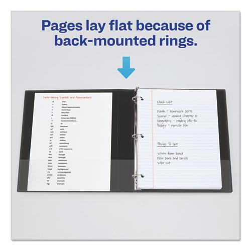 """Economy View Binder with Round Rings , 3 Rings, 1"""" Capacity, 11 x 8.5, Black, (5710). Picture 7"""