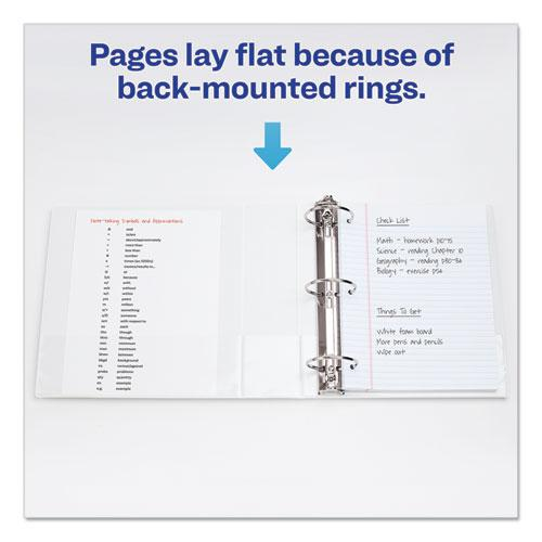 """Economy View Binder with Round Rings , 3 Rings, 3"""" Capacity, 11 x 8.5, White, (5741). Picture 4"""