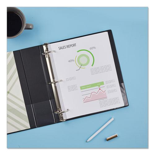"""Economy Non-View Binder with Round Rings, 3 Rings, 3"""" Capacity, 11 x 8.5, Black, (4601). Picture 8"""