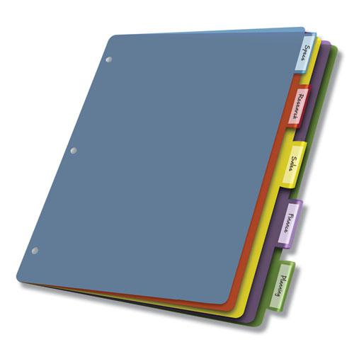 Poly Index Dividers, 5-Tab, 11 x 8.5, Assorted, 4 Sets. Picture 5