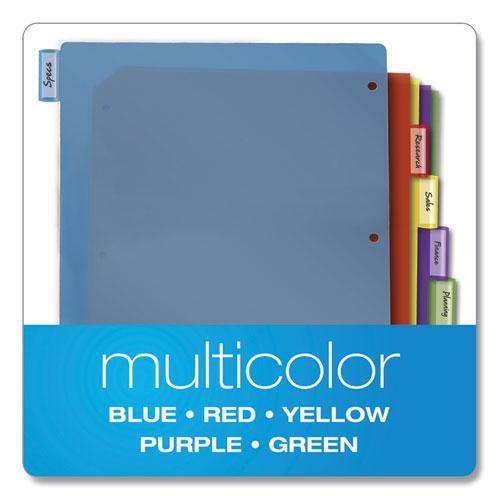 Poly Index Dividers, 5-Tab, 11 x 8.5, Assorted, 4 Sets. Picture 4