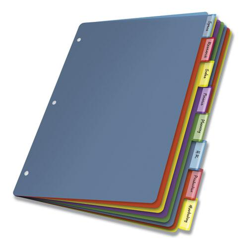 Poly Index Dividers, 8-Tab, 11 x 8.5, Assorted, 4 Sets. Picture 2