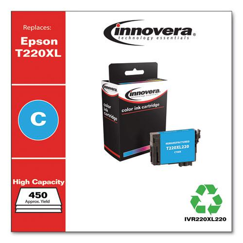 Remanufactured Cyan High-Yield Ink, Replacement for Epson T220XL (T220XL220), 450 Page-Yield. Picture 2