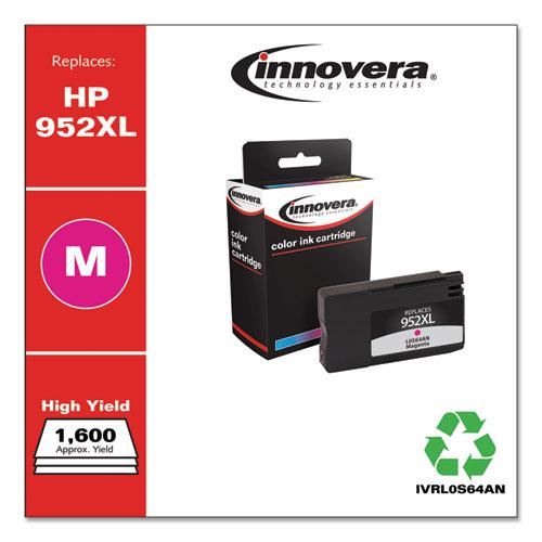 Remanufactured Magenta High-Yield Ink, Replacement for HP 952XL (L0S64AN), 1,600 Page-Yield. Picture 1