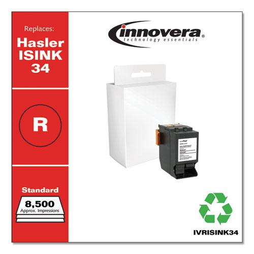 Remanufactured Red Postage Meter Ink, Replacement for Hasler ISINK34, 8,500 Page-Yield. Picture 1